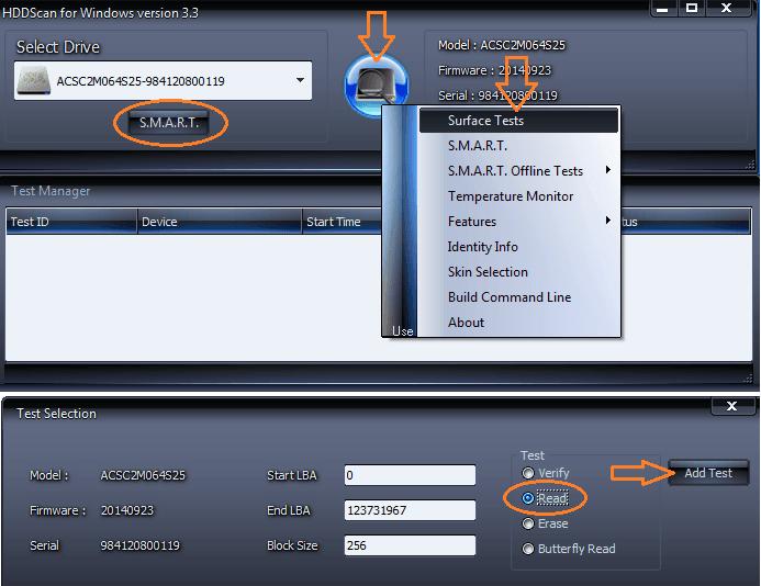 Как проверить жесткий диск на работоспособность, программой HDDScan
