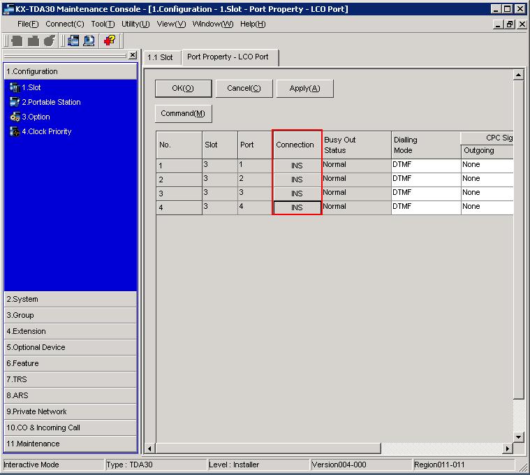 Подключение линии к мини атс panasonic tda30/tda100/tda200