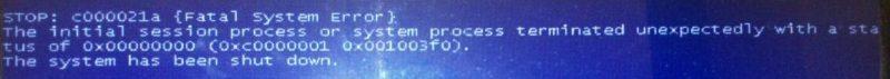BSOD c000021a