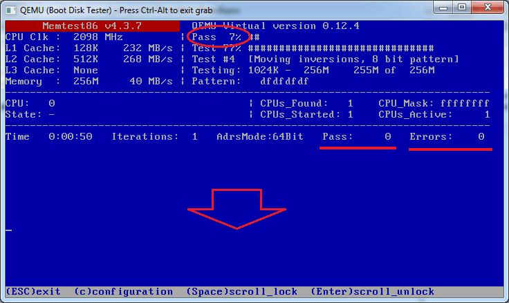 Тестирование оперативной памяти программа Memtest86