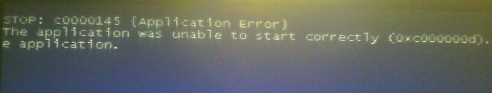 Fixed error c0000145