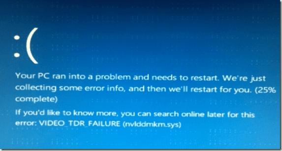 Способы исправления ошибки video tdr failure в Windows 10