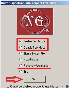 Отключить тестовый режим в WIndow7, Windows8 и Windows 10