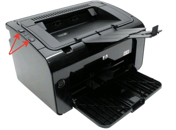 Решено: Как сбросить принтер HP-P1102W к заводским настройкам